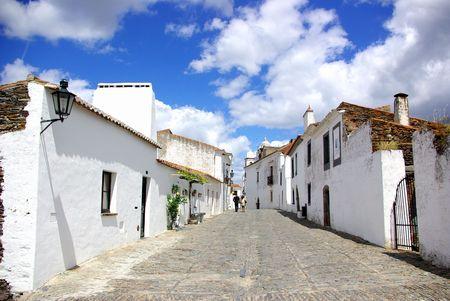 Typical portuguese street in Alentejo region Portugal