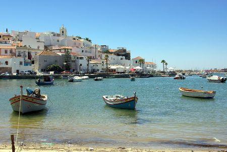region of algarve: Ferragudo, Portugal in Algarve region.