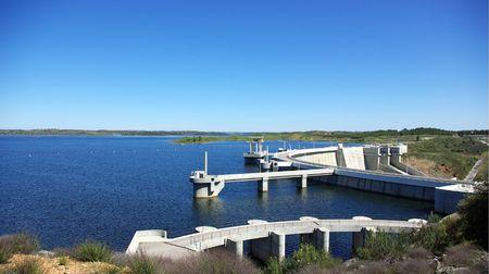 barrage: Barrage of lake of alqueva, Portugal.