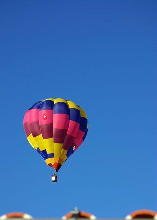 Hot air balloon in the blue sky. photo