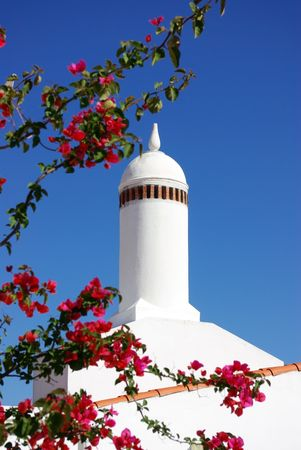 Traditional chimney in Alentejo. photo