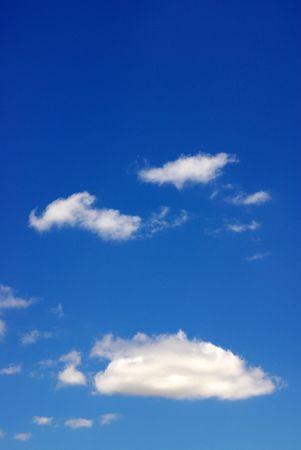 Clouds in blue sky,