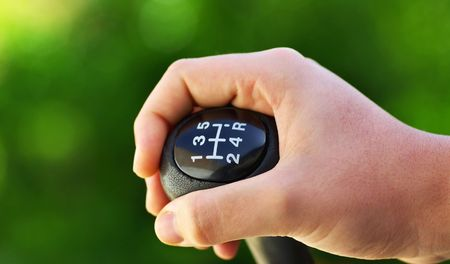 Car speed gear. photo