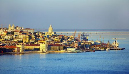 Landscape of Lisboa, Portugal. Stok Fotoğraf