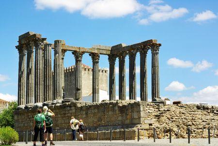 Famous roman temple in Evora. photo