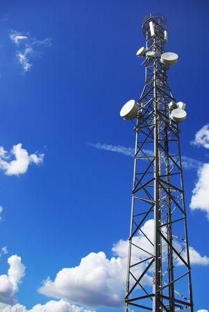 Tower of telecommunications. photo