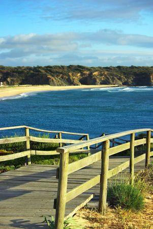 Beach steps at Portugal. photo