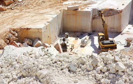 Marmor-Steinbruch in Portugal. Standard-Bild - 4977130