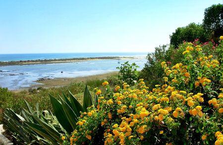 Landscape of Algarve region, Portugal. photo