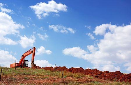 yelow: Yelow excavator Stock Photo