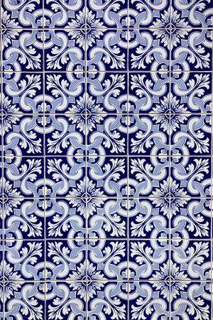 Portuguese blue tiles. photo