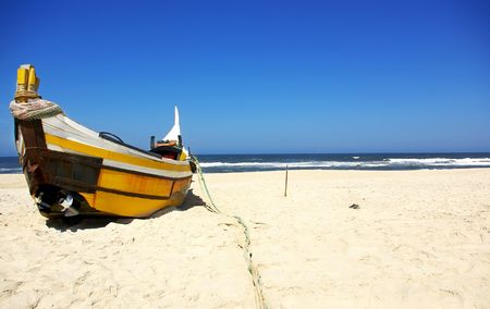 Portugiesische Fischerboot. Standard-Bild - 7685746