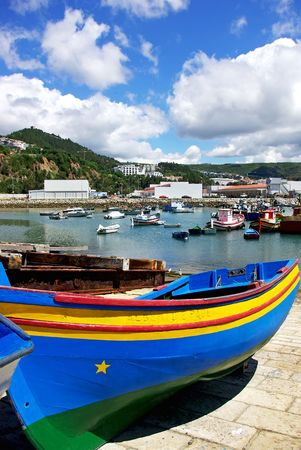 Boats in Port of Sesimbra. photo