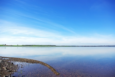 Landscape of Alqueva lake, south of Portugal.