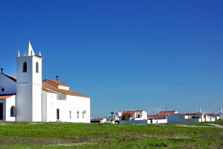 Church in Luz village. Alentejo region, Portugal. photo