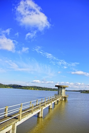 barrage: Barrage of Vigia lake, alentejo region, Portugal.