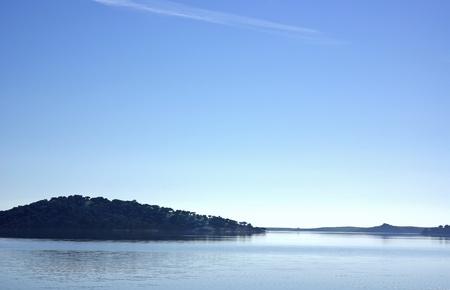 Landscape of alqueva lake, south of Portugal. photo