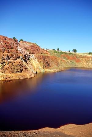 abandoning: Abandoned mining exploration at S.Domingos, Portugal. Stock Photo