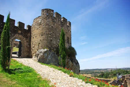 Entrance of Old castle, Alegrete village. photo