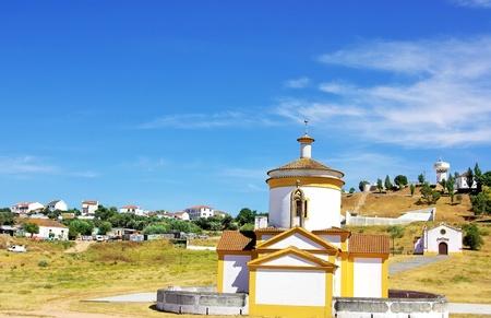catechism: Church at Monforte, Portugal. (Igreja do Calvário - Monforte)  Stock Photo