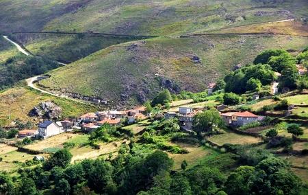 patrimony: Country Homes , Minho region, Portugal border of spain Stock Photo
