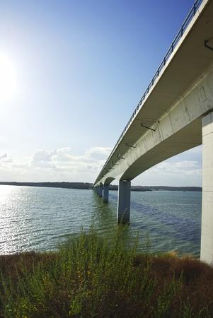 Bridge on Lake of Alqueva park, Portugal photo