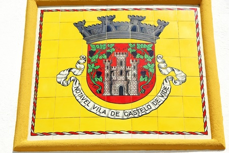 Blazon of Castelo de Vide village, Portugal. Stock Photo - 10723244