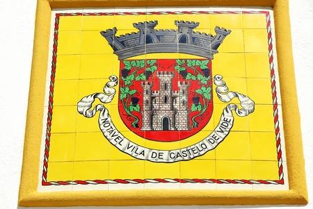 Blazon of Castelo de Vide village, Portugal. Stock Photo - 10723244