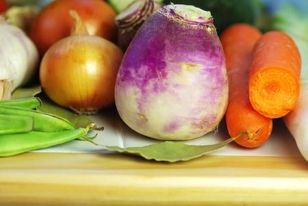 Vegetable ingredients of mediterranean cuisine photo
