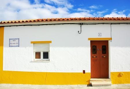 Traditional house of alentejo region. photo
