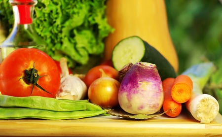 Oliveoil and vegetables Stock Photo - 11807157