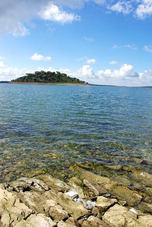 island at Alqueva lake, south ofPortugal photo