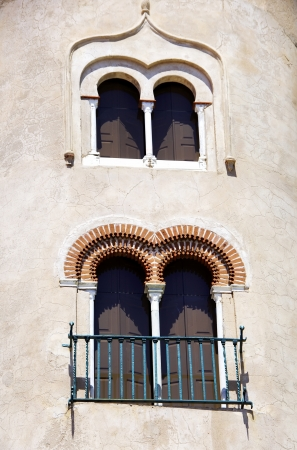 mudejar:  windows of Alvito castle, Portugal Stock Photo