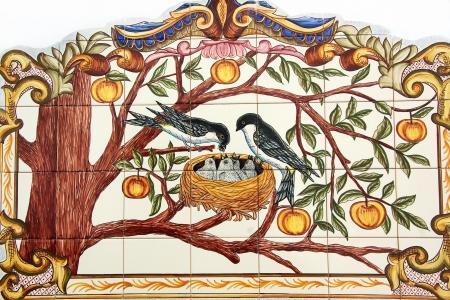 nido de pajaros: Azulejos portugueses en la calle, Alentejo región