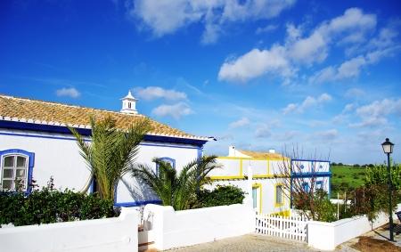 region of algarve: Portuguese houses at Algarve region