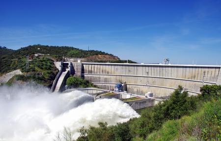 Alqueva, the big  dam, south of Portugal.