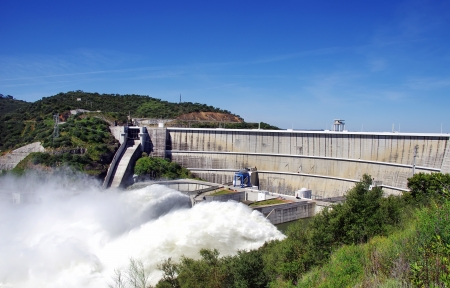 hydroelectric: Alqueva, the big  dam, south of Portugal.