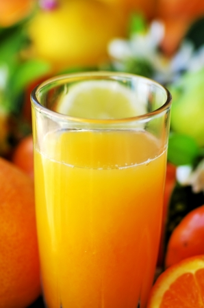 Natural orange juice photo