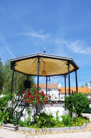 bandstand: Bandstand gazebo on a public garden of Portugal. Stock Photo