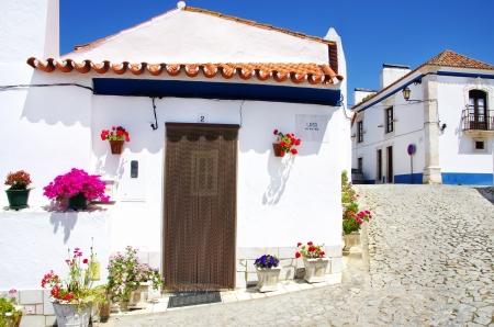 Street of Terena village, Portugal Stok Fotoğraf