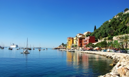 french riviera: Villefranche sur mer, France Editorial