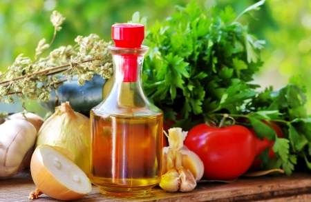Olive oil and Mediterranean cuisine Ingredients  photo
