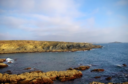 Rocks and sea near Porto Covo village photo
