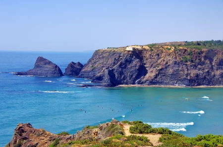 barlavento: Odeceixe beach in South-West Alentejo and Costa Vicentina Stock Photo