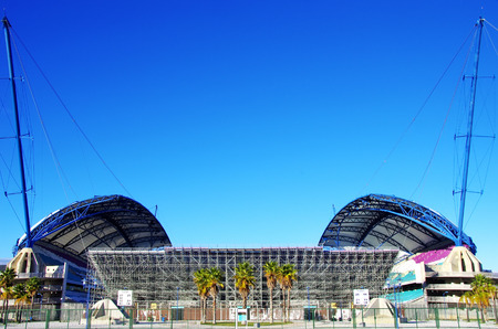 region of algarve: soccer stadium in Algarve region Portugal Editorial