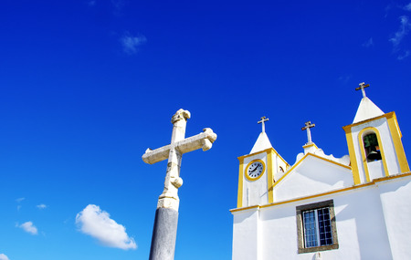 alentejo: Portuguese church at Alentejo region Stock Photo