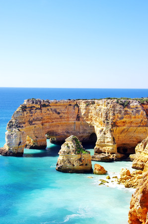 barlavento:  Marinha Beach,  located on the Atlantic coast in Portugal, Lagoa , Algarve.