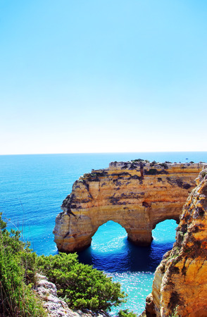 Rocks formation in Marinha beach, Algarve, Portugal