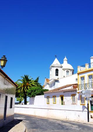 castro: Old street of Castro Marim village, Portugal Stock Photo