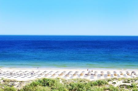 Green beach in Algarve, Portugal Stok Fotoğraf